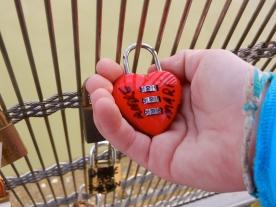 one of numerous locks on this bridge