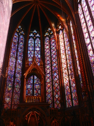 a church entirely of stained glass--Saint Chapelle Cathedral