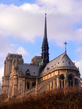 Notre Dame Cathedral's flying buttresses
