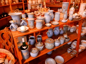 soft calming colors of Alsatian pottery