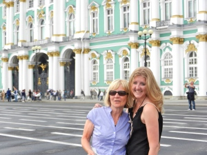 Lindsey and Eva at the Hermitage, St Petersberg