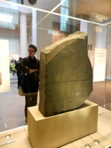 Rosetta Stone; funny, I always thought it was round.