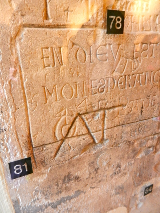 Prisoners of the Tower of London added their names and designs to the prison walls
