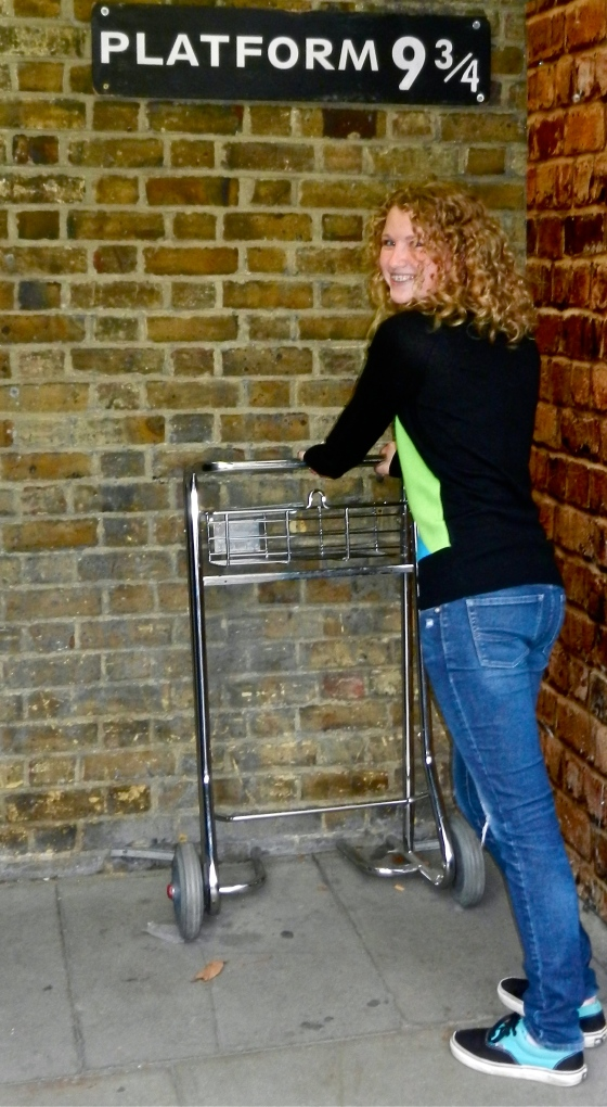 Trying to get to Hogwarts at Platform 9 3/4