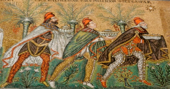 Wise Men mosaic, Ravenna Italy