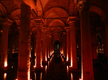 Basilica Cistern, an underground church in Istanbul