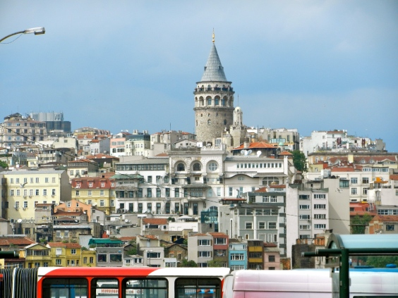 Galata Tower as seen from Topkapi Palace