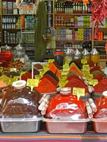 The spices of the Grand Bazaar--probably the largest and busiest market I've ever been to
