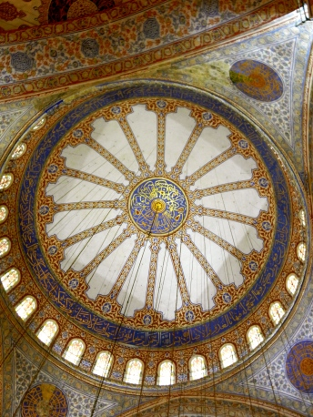 Interior dome, Blue Mosque