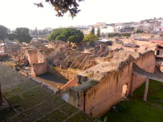 The excavation site: Herculaneum