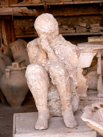 frozen in time during the Pompeii volcano explosion