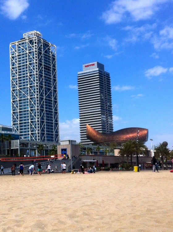 Sunny skies and warm temps entice us to Barcelonetta Beach