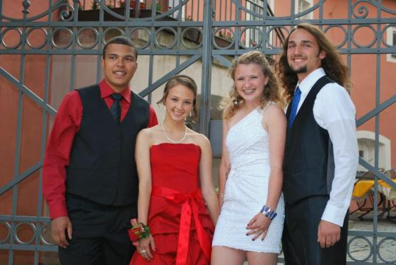 The girls with their dates