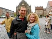 Andrew and Lauren on the Marktplatz