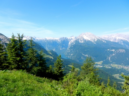 View of German Alps from Eagle's Next
