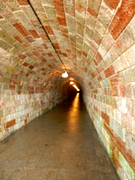 Tunnel leading to the secret elevator to the top of Eagle's Next