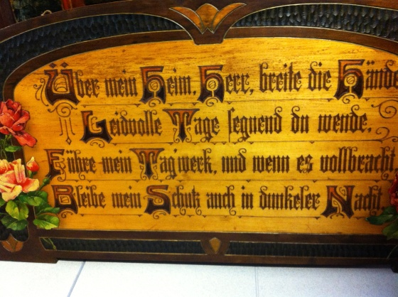 A Bavarian blessing for the home
