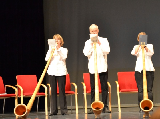 German alpenhorns begin the graduation ceremony