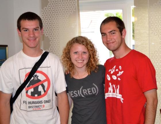 """Caleb Peterson, Lauren and Andrew Becker say """"Auf Wiedersehen"""""""