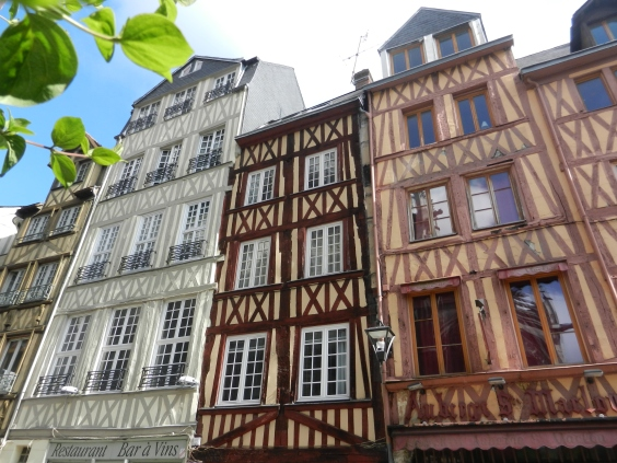 Half Timbered homes in Rouen