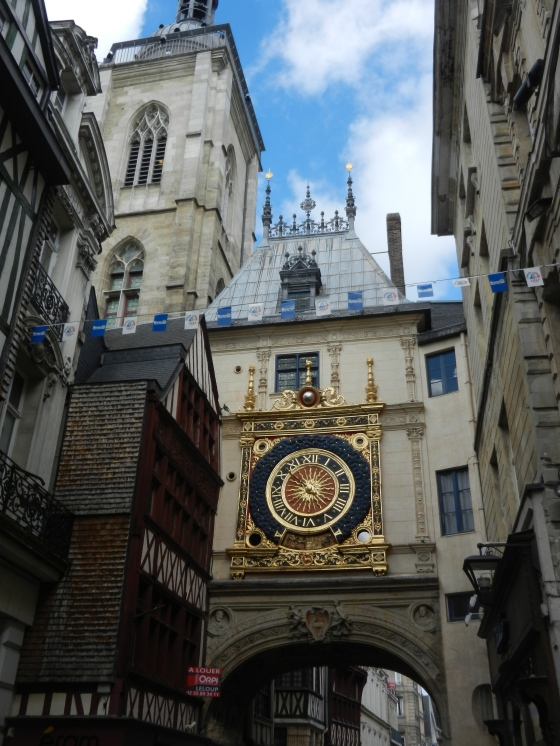 Large Rouen clock in the city gate