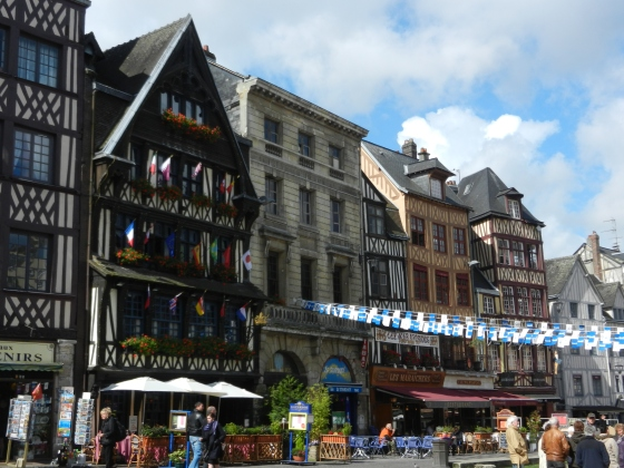 Half-Timbered buildings in Rouen