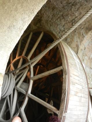 large wheel in Mont St Michel Abbey