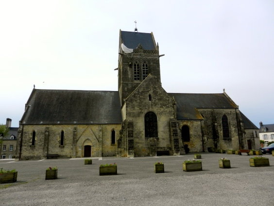Church in St Mere Eglise with Parachute on roof