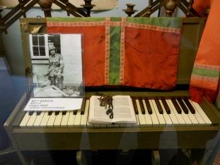 Piano belonging to Chappy Wood.