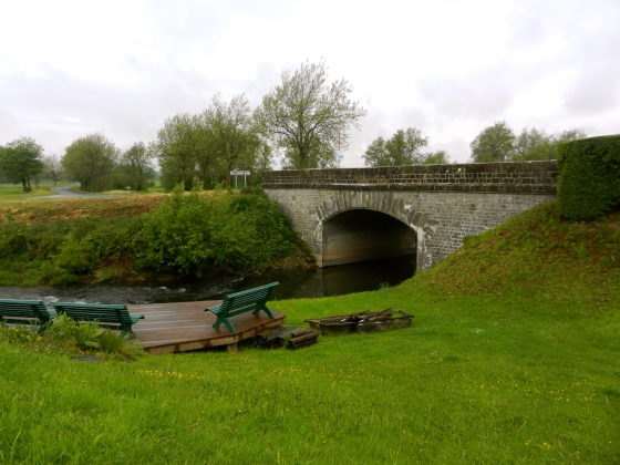 The old bridge in St Mere Eglise, France