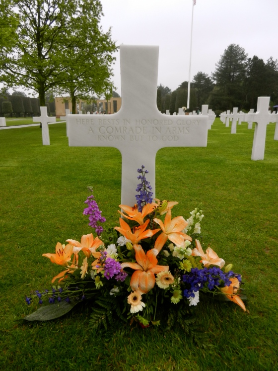 One of many grave markers to unknown soldiers
