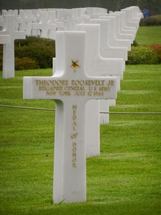 Grave marker for Teddy Roosevelt Jr.