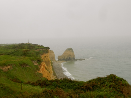 The cliffs near Pt du Hoc