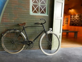 typical bicycle used to deliver messages during French occupation