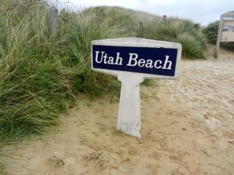 utah beach sign