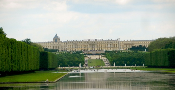 Palace of Versailles as seen from the very farthest reaches of the gardens...It's one huge place