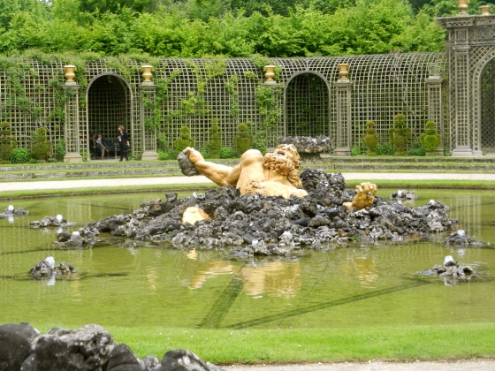 Rising up from the waters...a grotto fountain in Versailles comes to life