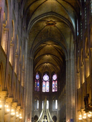 Interior of Notre Dame Cathedral