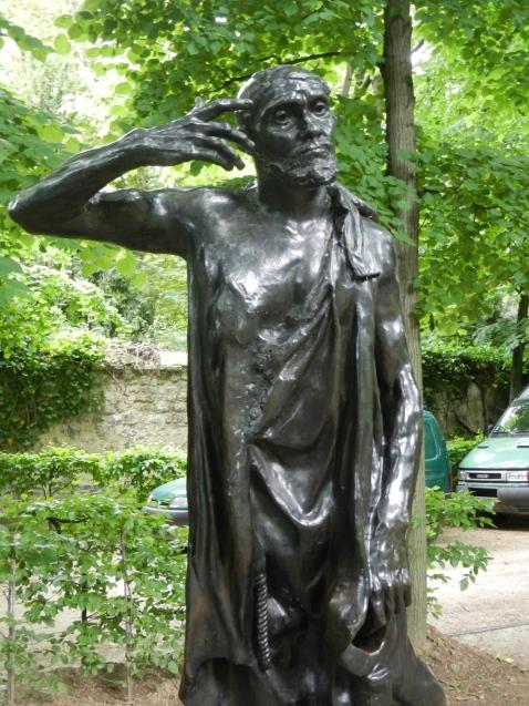 Rodin sculpture in garden