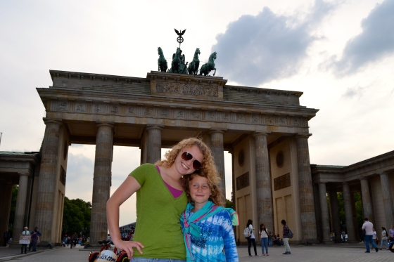 Lauren and Lilly pose in front of one of the most well-known landmarks: Brandenberg Gate