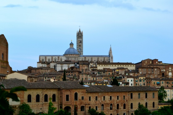 The view of the Siena Cathdral as we entered the city