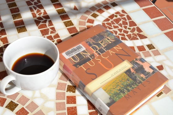 "Slow lazy mornings reading Francis Mayes' book ""Under the Tuscan Sun"""