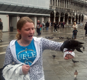 St Mark's Square and hungry pigeons