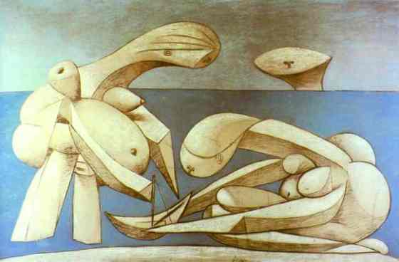 Pablo Picasso--Bathers with a Toy Boat