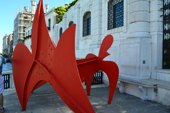 Alexander Calder is known for his large sculpture and hanging mobiles. This one is displayed right on the Grand Canal, Venice