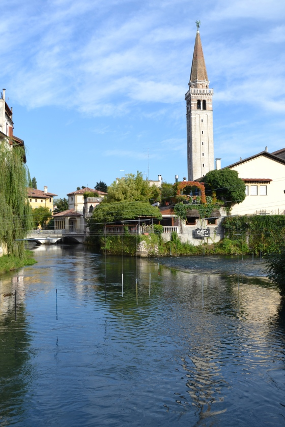 The gorgeous little village of Sacile, Italy