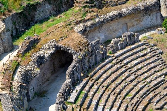 Roman amphitheater ruins, Volterra