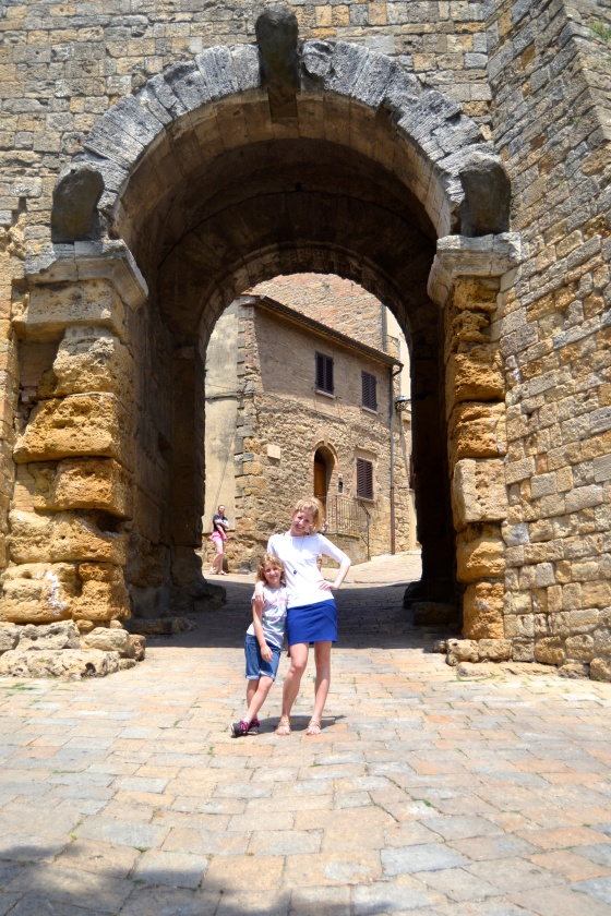 the gate still stands! Volterra gate, 4th Century, BC