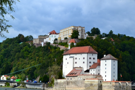 View of Austrian castle complex from Passau