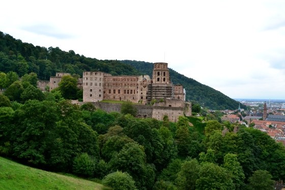 Heidelberg Castle high above the Neckar River